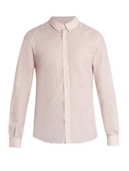 Editions M.R Linen And Cotton Blend Oxford Shirt Pink
