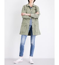 Levi's Petra Military Cotton Canvas Jacket Deep Lichen Green