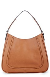 Sole Society Sarafina Faux Leather Shoulder Bag Brown Cognac