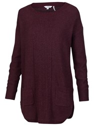 Fat Face Truro Pocket Tunic Plum