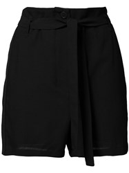 Ann Demeulemeester Pleated Shorts Black