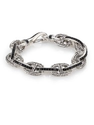John Hardy Classic Chain Sterling Silver And Black Sapphire Link Bracelet