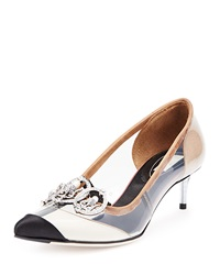 Balenciaga Transparent Jeweled Cap Toe Pump