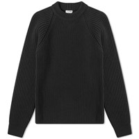 Saint Laurent Raglan Rib Crew Knit Black