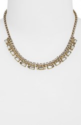 Sorrelli Fanned Baguette Crystal Necklace Beige