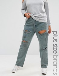 Alice And You Rip Repair Boyfriend Jean New Grey