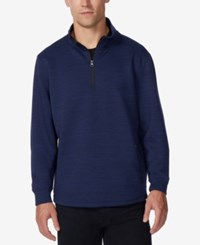 32 Degrees Men's Fleece Quarter Zip Tech Jacket Cloud Bust