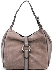 Michael Michael Kors Large 'Quincy' Hobo Tote Grey