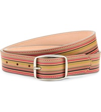 Paul Smith Vintage Multi Stripe Leather Belt