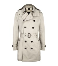 Burberry Brit Delsworth Cotton Trench Coat Male Taupe