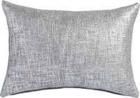 Cb2 Glitterati Silver 18''X12'' Pillow With Feather Down Insert