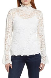 Everleigh Stretch Lace Top Ivory