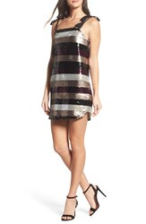 Ali And Jay Women's I'm With Andi Minidress Multi Stripe Sequin