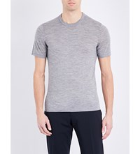 Joseph Crewneck Wool Jersey T Shirt Grey