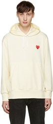 Comme Des Garcons Yellow Heart Patch Hoodie
