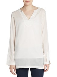 Michael Stars V Neck Tunic White