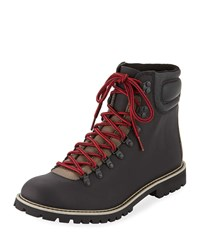 Wolverine Two Tone Leather Hiking Boots Black