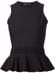 Alexander Mcqueen Sleeveless Peplum Top Black