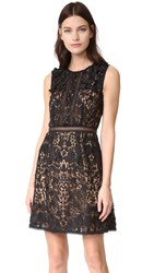 Marchesa A Line Dress Black