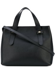 Borbonese Small Tote Women Cotton Leather One Size Black