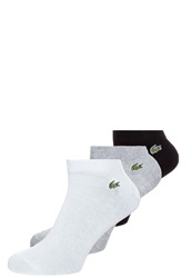 Lacoste 3 Pack Sports Socks Blac Argent Chine Noir Dark Gray