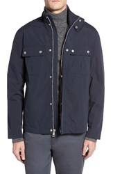 Cole Haan Men's Stand Collar Water Repellent Jacket Navy