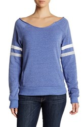 Alternative Apparel Varsity Stripe Slouched Pullover Multi