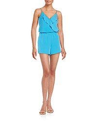1.State Ruffle Trim Short Jumpsuit Deep Turquoise