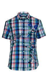 Desigual Andromedeis Patchworked Classic Fit Shirt Multi Coloured