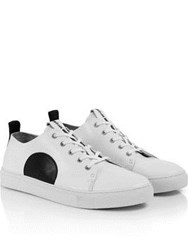 Mcq By Alexander Mcqueen Chris Lace Up Trainer Black White Black White