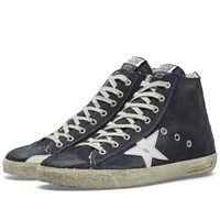 Golden Goose Deluxe Brand Frenchie Suede High Sneaker Blue
