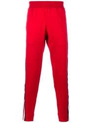 Gucci Striped Panel Track Pants Red
