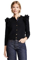 Demy Lee Demylee X Claire V Nora Cardigan Black Mohair