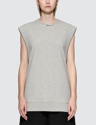 Maison Martin Margiela Mm6 Under Construction Sleeveless Sweatshirt