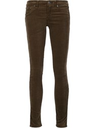 Rag And Bone Jean 'Loden' Velvet Skinny Jeans Green