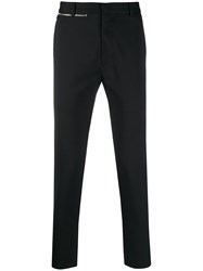 Low Brand Zip Detail Slim Fit Trousers Black