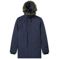 Kenzo Faux Fur Hooded Parka Blue