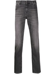 7 For All Mankind Tapered Stonewashed Jeans Grey