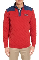 Vineyard Vines Men's Quilted Jacket Tomato Check