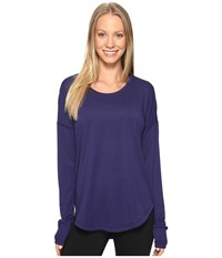 Lucy Final Rep Long Sleeve Top Pure Indigo Women's Long Sleeve Pullover Blue