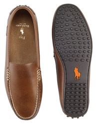Polo Ralph Lauren Woodley Leather Loafers Polo Tan