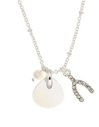 Lonna And Lilly 4Mm Faux Pearl Semi Precious Reconstituted October Birthstone Charm Necklace White