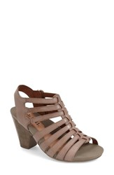 Women's Cobb Hill 'Taylor' Caged Sandal Khaki Leather