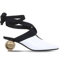 J W Anderson Cylinder Leather Ballet Mules White