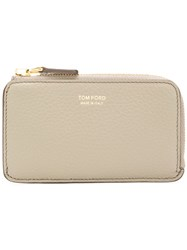 Tom Ford Zip Around Wallet Nude And Neutrals