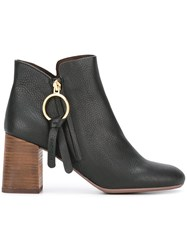 See By Chloe Zipped Ankle Boots Black