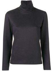 Stephan Schneider High Neck Fitted Top Blue