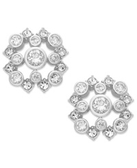 Eliot Danori Earrings Rhodium Plated Cubic Zirconia 1 Ct. T.W. Stud Earrings
