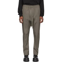 Rick Owens Taupe Drawstring Long Trousers