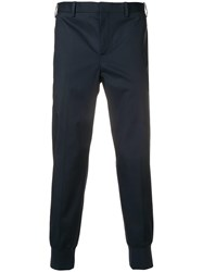 Neil Barrett Tailored Trousers With Elasticated Cuffs Blue
